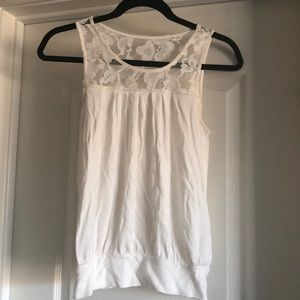 Open-back lace tank from Express